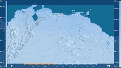 Venezuela - wind speed, raw data Animation