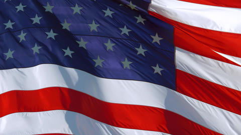 American Flag Waving, background close up, 4K Live Action
