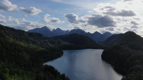 Lake Alpsee in Schwangau Bavaria Germany in the evening Live Action