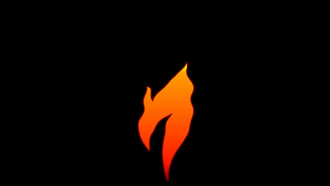 Vector Flat Cartoon flame text typography animation loop with alpha7 Animation