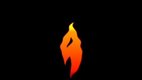 Vector Flat Cartoon flame text typography animation loop with alpha9 Animation