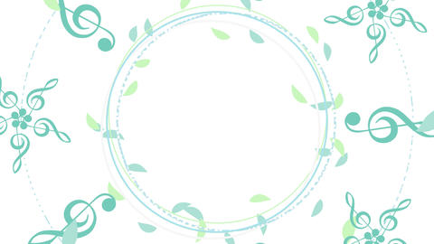 Circular Flowing - Leaf / G Clef / G Clef Flower CG動画