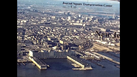 NEW YORK 1975: New York seen from above in the mid 70's 19 Live Action