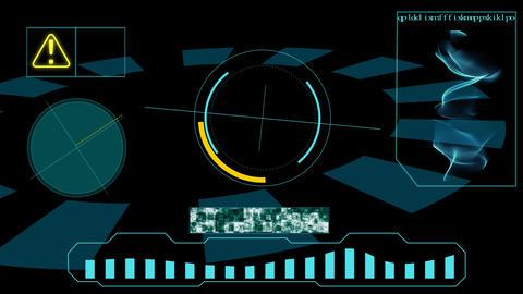 A futuristic monitor screen Animation