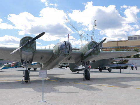 High-speed bomber ANT-40 (SB) mod. 1936. Pyshma, Ekaterinburg, Russia Footage