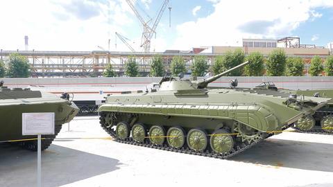 Tanks. Pyshma, Ekaterinburg, Russia Footage