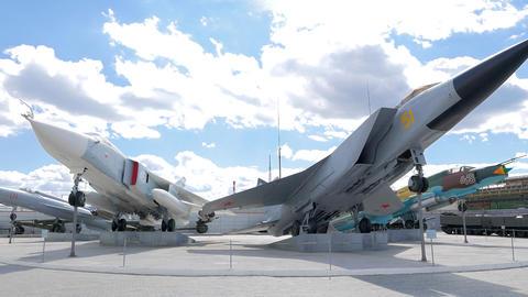 Military aviation. MiG-31. Pyshma, Ekaterinburg, Russia Live Action