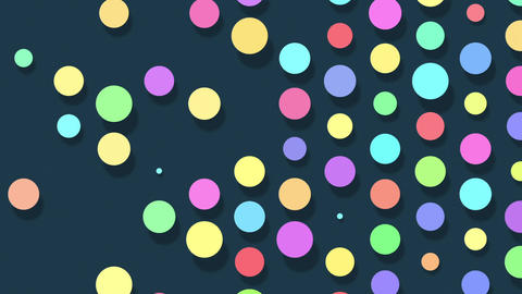 Colorful dots popping up and disappearing. Abstract animation background Animation