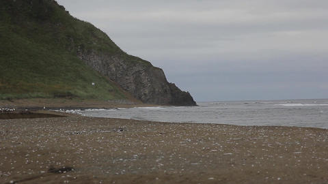 lanscape coastline with a hill Footage