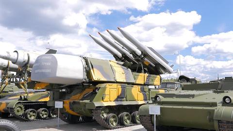 Antiaircraft missile launcher Buk. Pyshma, Ekaterinburg, Russia Footage