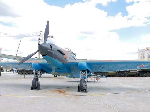 Storm Trooper IL-2 model 1942. Pyshma, Ekaterinburg, Russia Footage