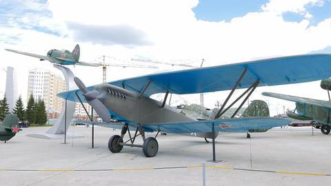 Aircraft reconnaissance P-6 model 1928. Pyshma, Ekaterinburg, Russia Footage