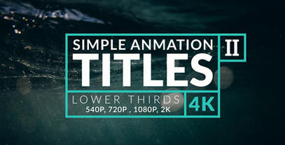 Animation Titles & Lower Thirds II After Effects Template