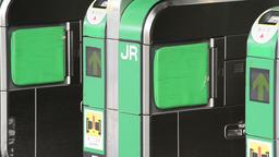 JR Shinjuku station, East exit entrance gate, Tokyo Footage