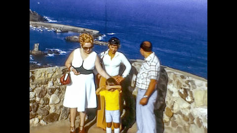 ALGHERO, ITALY 1974: People on vacation in sardinia 6 Live Action