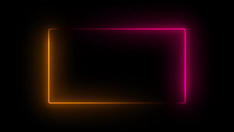 Neon frame glowing Animation