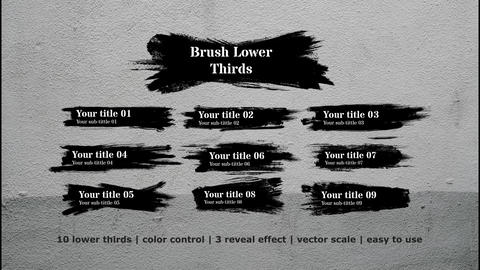 Brush Lower Thirds Premiere Pro Template