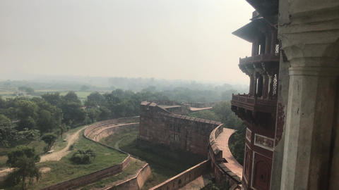 Agra, India - Agra Fort, the beauty of the city going beyond the horizon Live Action