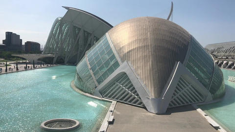 Valencia, Spain, buildings from the future Live Action