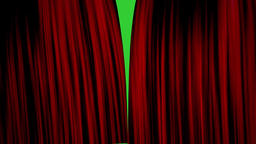 Curtain Opening With Green Screen Background