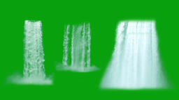 Waterfalls motion graphics with green screen background Animation