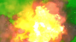 Fire explosion motion graphics with green screen background Animation