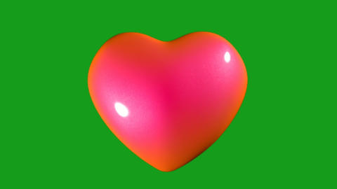 Beating heart motion graphics with green screen background Animation