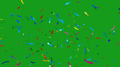 Confetti blast motion graphics with green screen background Animation