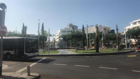 Tel Aviv, Israel - public transport waiting for a signal Live Action