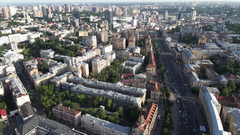 View of Kyiv from above. Ukraine. Aerial view Live Action