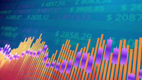 Stock market chart bars Animation