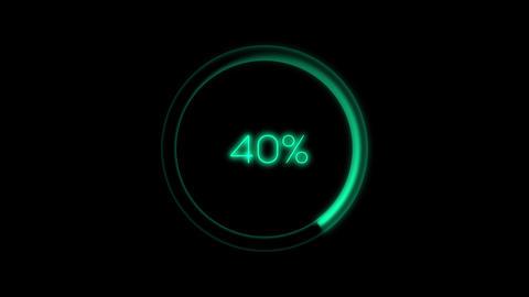 Loading Circle 0 - 100% Animation