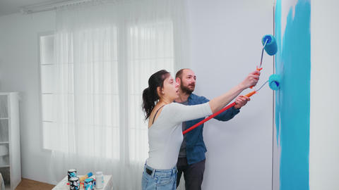 Happy family painting Live Action