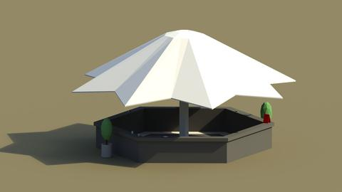 Low Poly Summer Bar 2 3D Model