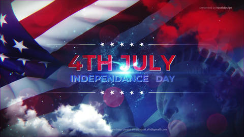 USA Independence Day Plantilla de After Effects