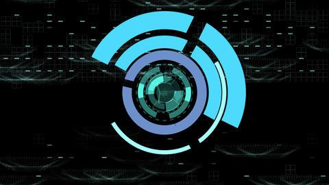 Space SiFi blue background CG動画