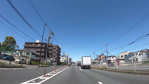 A driving image of a highway in Tokyo Live Action