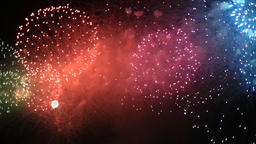 Fireworks at Edogawa fireworks festival, Tokyo, Japan Footage