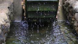 Waterwheel at Showa Memorial Park, Tokyo, Japan Footage