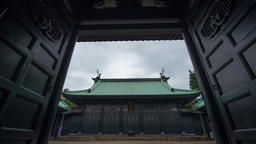 Time Lapse Zoom In View Of Yushima Seido Temple Entrance Gate, Tokyo, Japan Footage