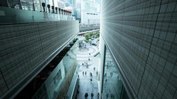 Time lapse wide view of people walking in the Yurakucho office area, Tokyo, Japa Footage