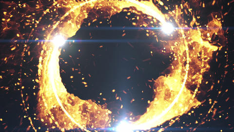 particle flare rotate fire effect Animation