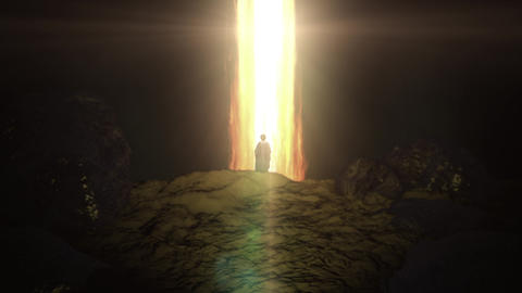 God in the Form of Pillar of Fire and Moses Live Action