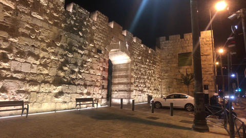 Jerusalem, Israel - beautiful streets of the evening city part 2 Live Action