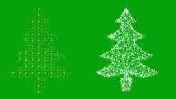 Christmas trees motion graphics with green screen background Videos animados