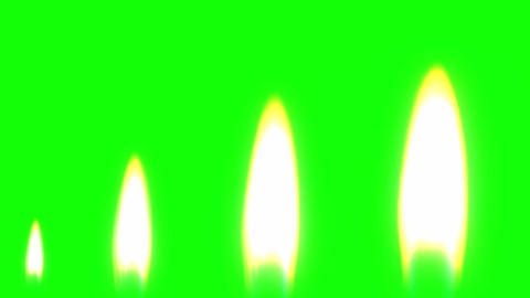 Candle flame motion graphics with green screen background CG動画