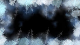 Snow frost motion graphics with night background Animation