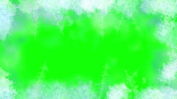 Snow frost motion graphics with green screen background Animation