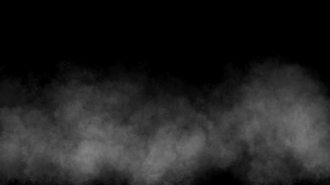 White smoke motion graphics with night background Videos animados