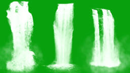 Waterfalls Green Screen - Set Of 5 - 4k Videos 1